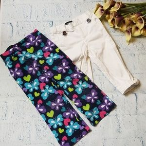 Set of Jumping Bean leggings and George capris